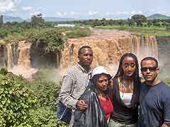 Some of the Group at the Blue Nile Falls